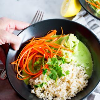 Curry Thai Verde, un detox vegano y delicioso para empezar el año