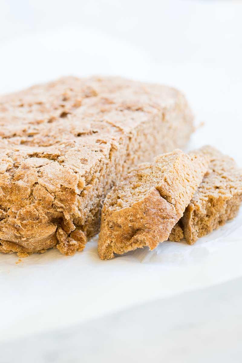 Pan hecho en casa sin amasar.