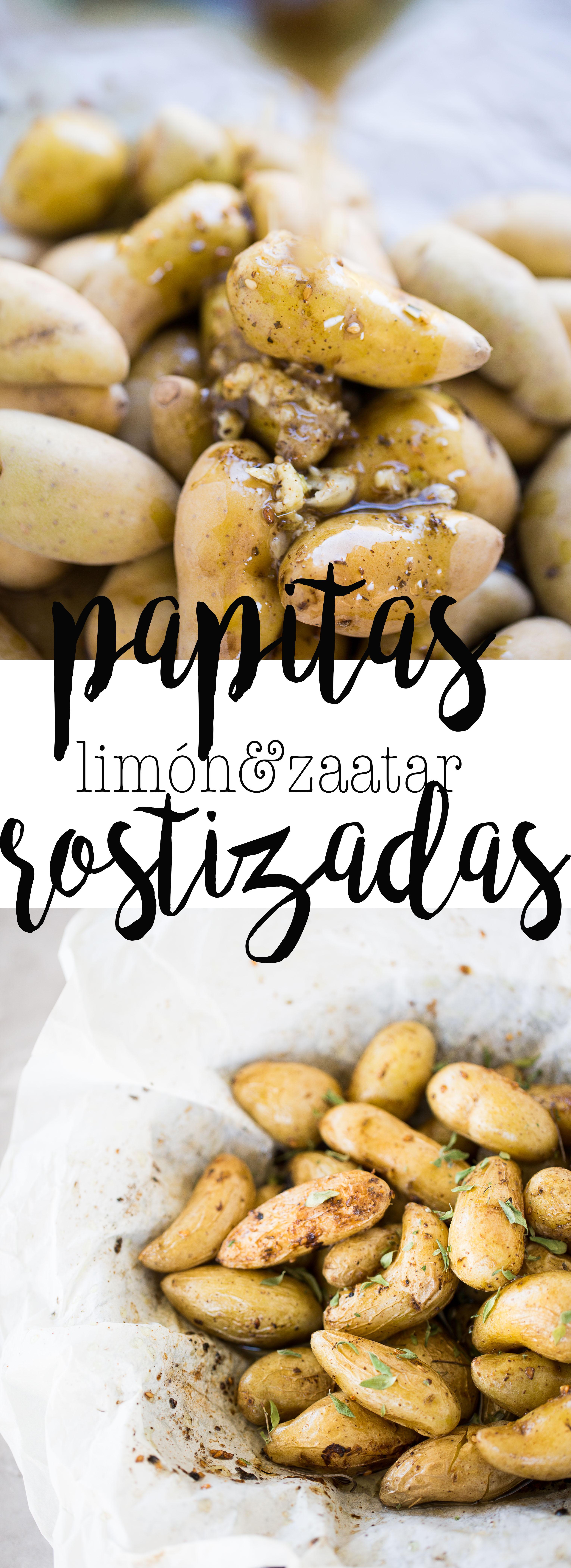 Receta de papas rostizadas con limón y zaatar.