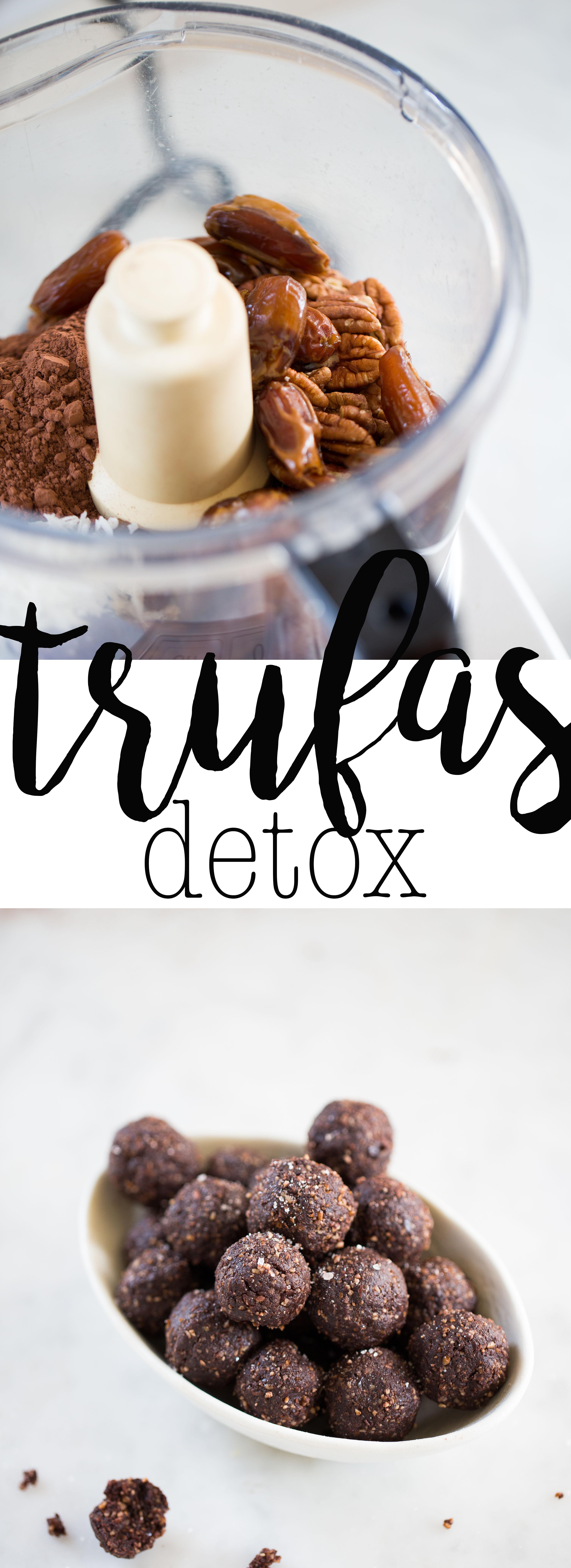 Esta receta de trufas detox es perfecta para todos los días, ¿te imainas un postre que nutra y no engorde? Si se puede, pruébalas. #vegnan, #chocolate, #vegano