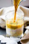 Latte dorado, Café dorado con turmeric. Golden latte.
