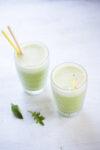 Smoothie con crema de cacahuate, receta perfecta para empezar a tomar smoothies.