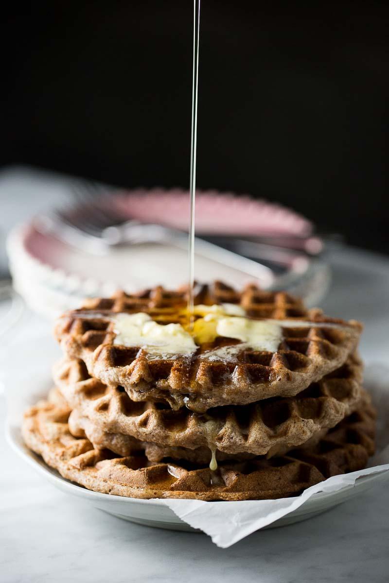 Waffles con proteína extra