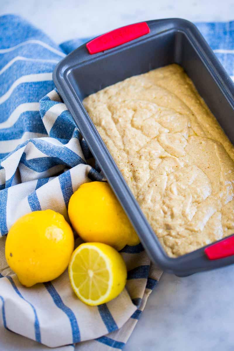Panque de limón antes de meterlo al horno