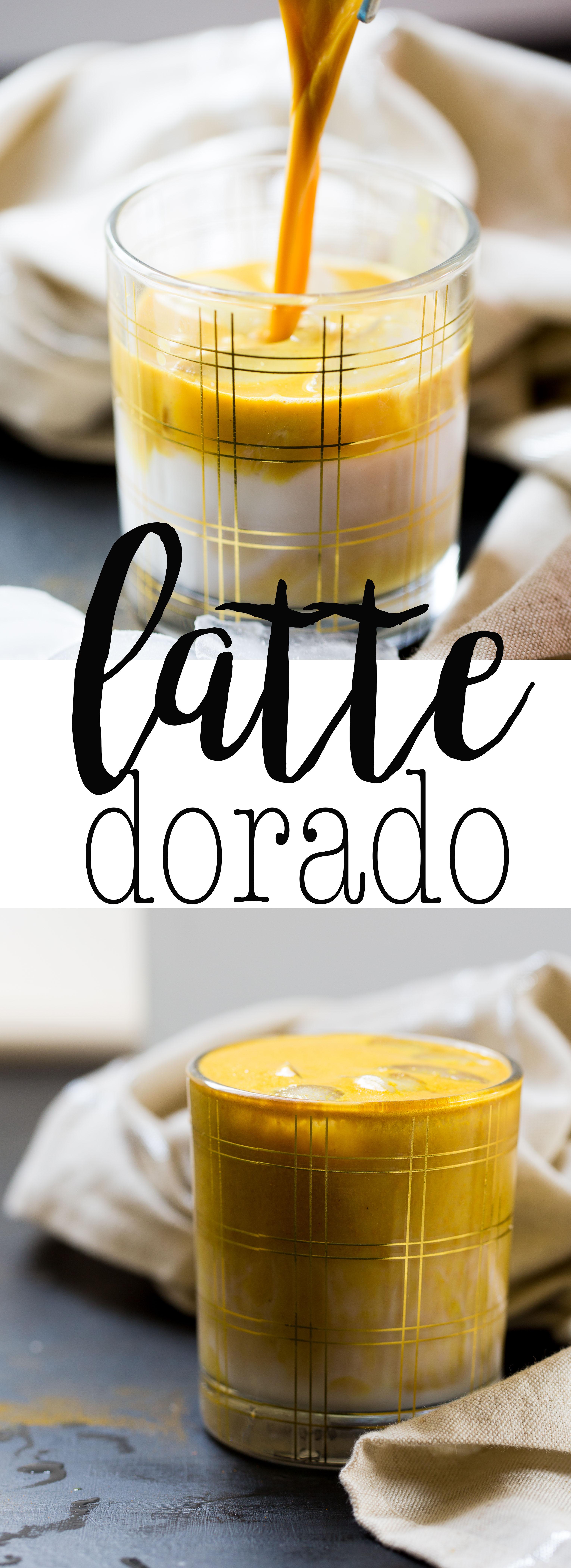 Receta de latte dorado, cafe con turmeric, curcuma, y otros super alimentos.