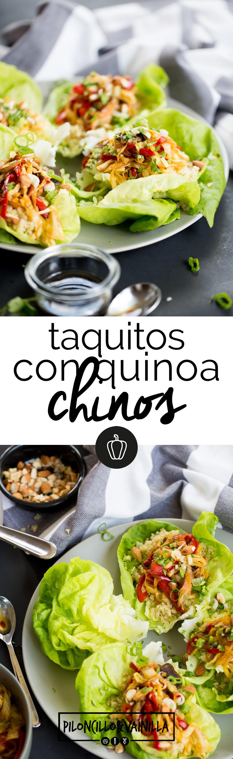 Receta perfecta para una cena rápida o una comida ligera de taquitos chinos con quinoa y verduras. Esta receta (100% basada en plantas) es fácil y rápida.