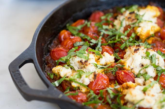 Shakshuka: tomates , pimientos y especies
