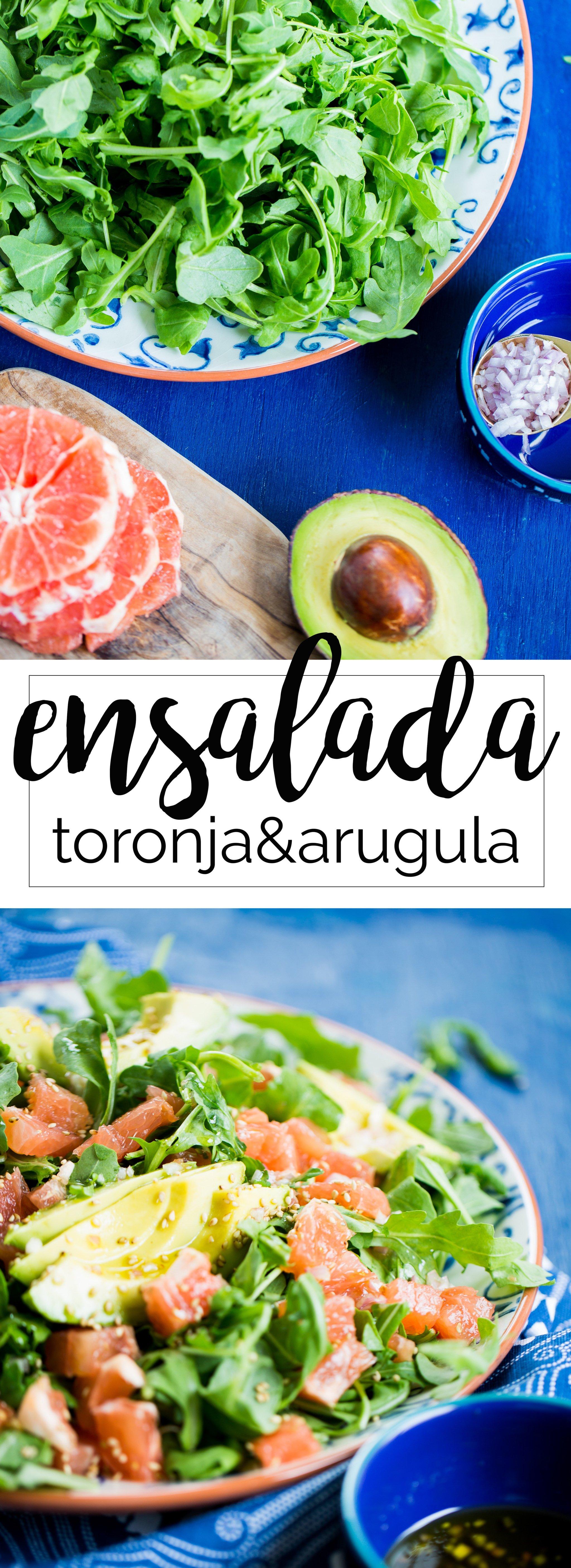 Esta receta de ensalada de arúgula y toronja super detox el de lo más saludable que puede haber es una receta  de ensalada fácil y deliciosa.