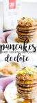 Receta para hacer pancakes de elote con tocino de coco y chile serrano.