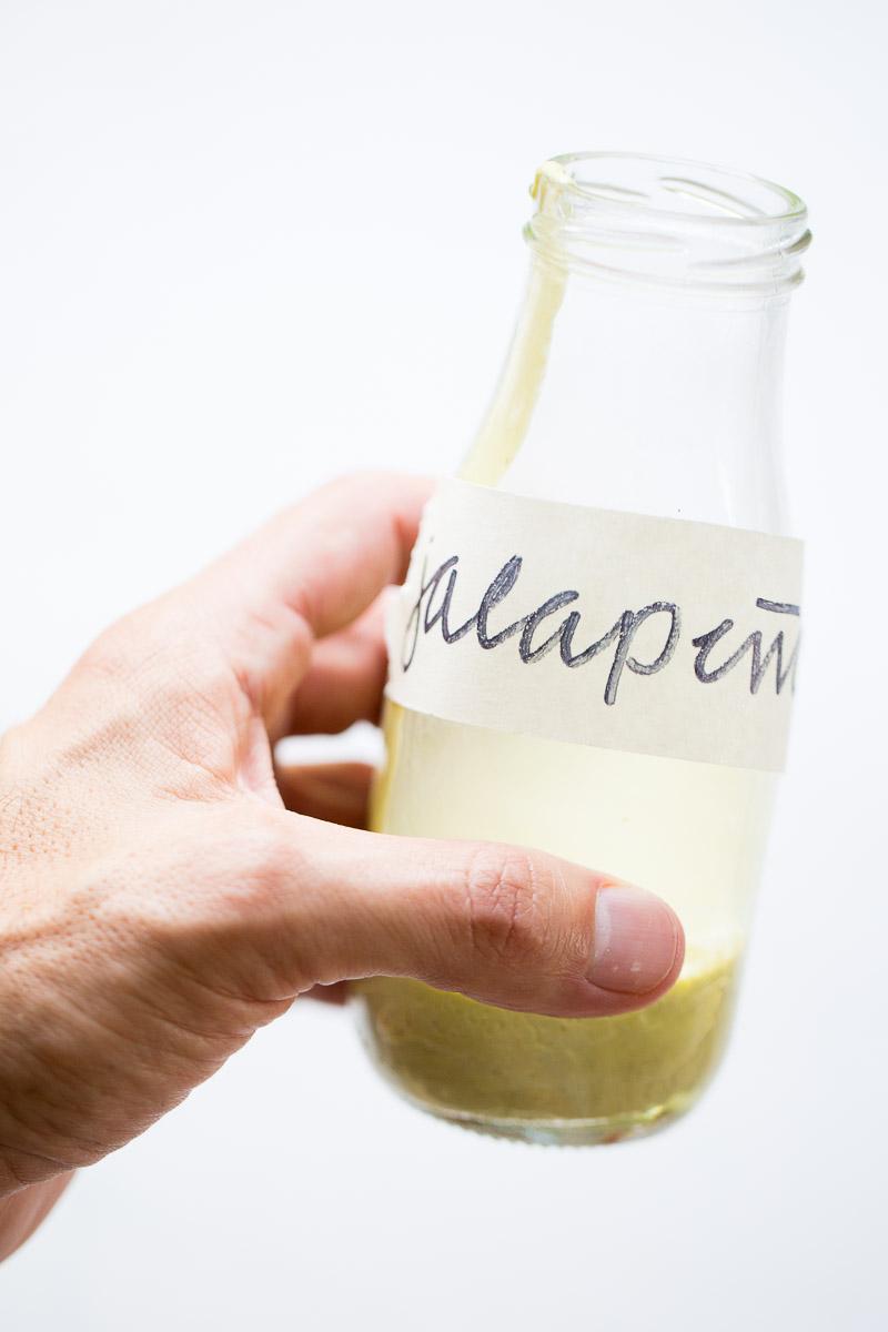 Salsa cremosa de jalapeño