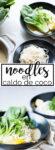 Receta vegana de noodles en caldo de coco. Receta llena de ingredientes saludables para nuestra salud. Atrévete a probar una sopa nutritiva totalmente diferente.