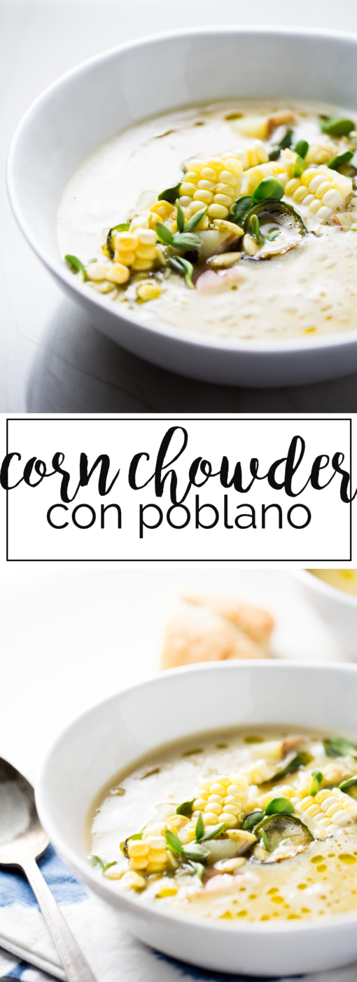 Receta vegana de corn chowder super saludables y con un toque mexicano.