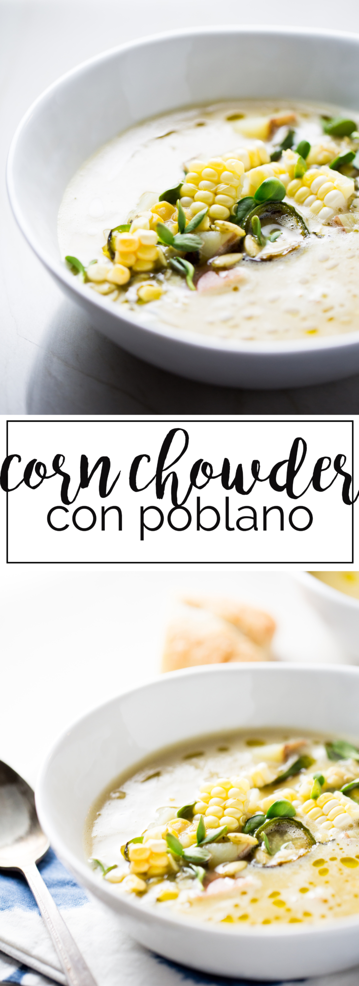 Receta vegana de corn chowder super saludables y con un toque mexicano.