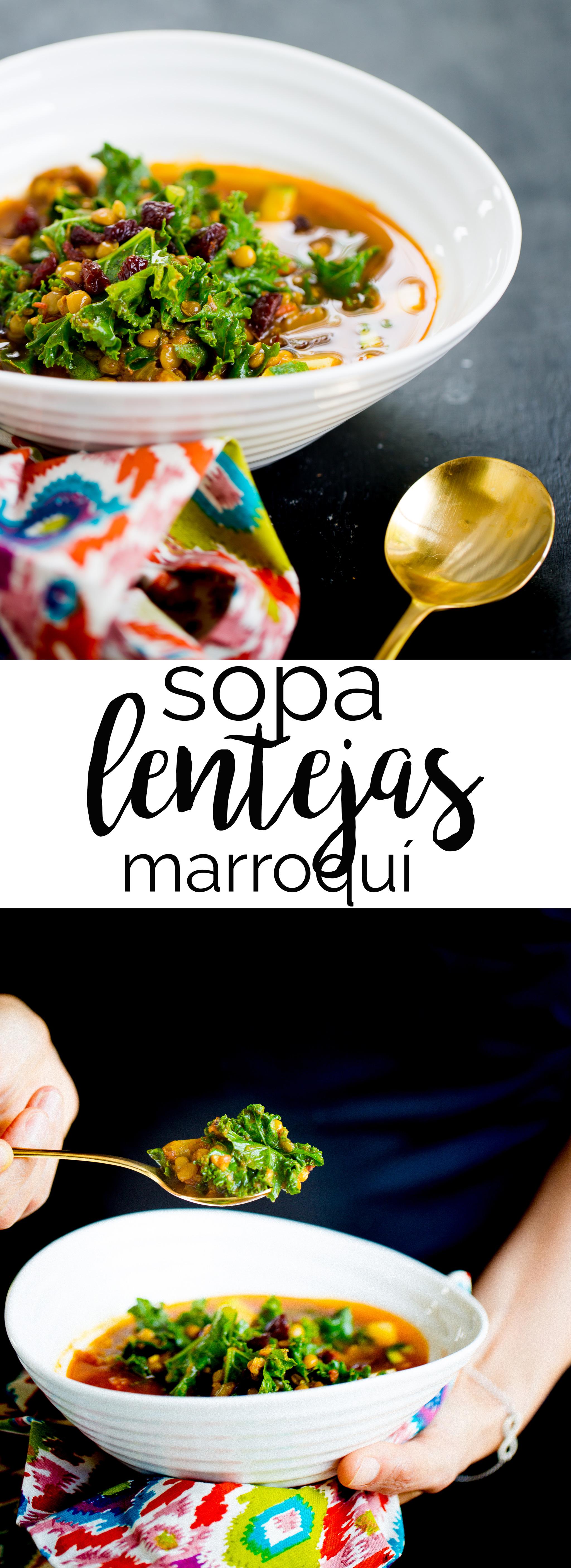 Esta receta para hacer sopa de lentejas marroquí pronto se va avolver en tu sopa preferida, se hace bien fácil y esta llena de especies que tienen super poderes en nuestra salud.