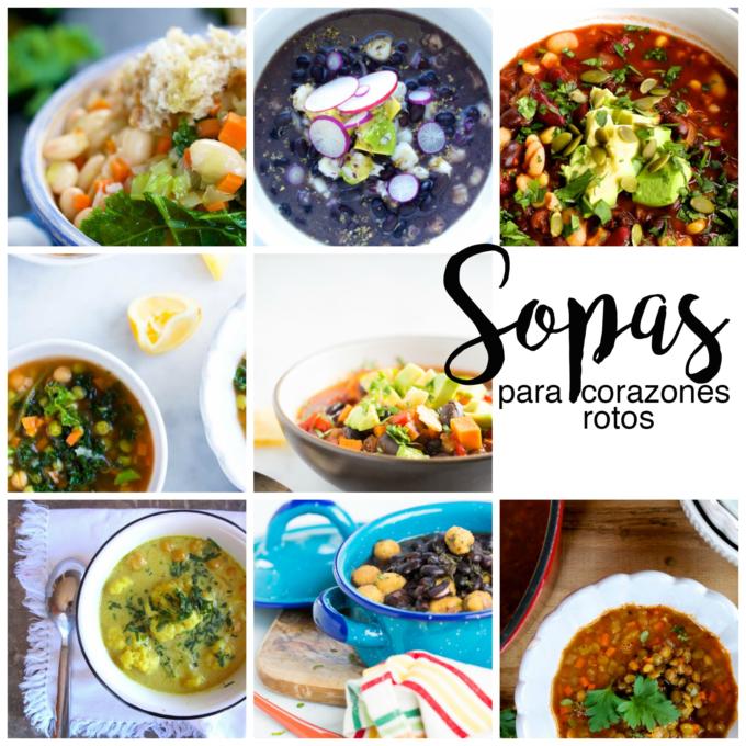 8 Recetas de sopas para mucha gente