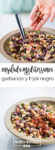 Receta de ensalada mediterranea de ensalada de garbanzo y frijol negro.