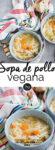 sopa vegana de pollo