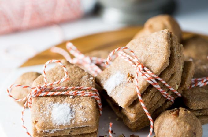 Galletas de nuez con harina de espelta