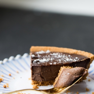 Recipe for creamy chocolate vegan pie.