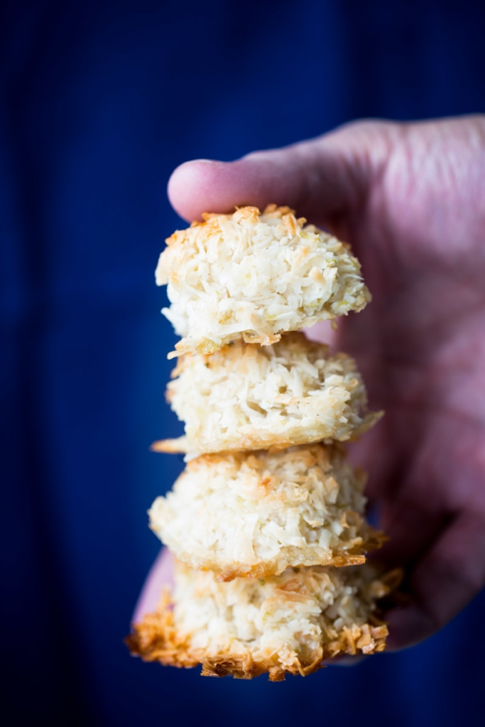 Recipe for vegan lime macaroons