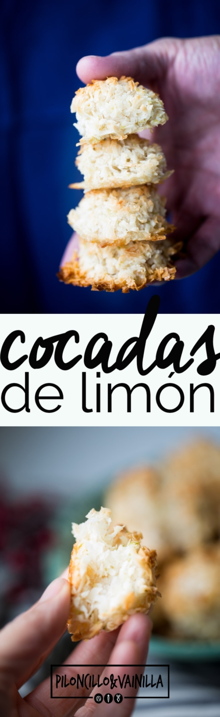 Receta de cocadas de limón veganas, receta 100% vegana