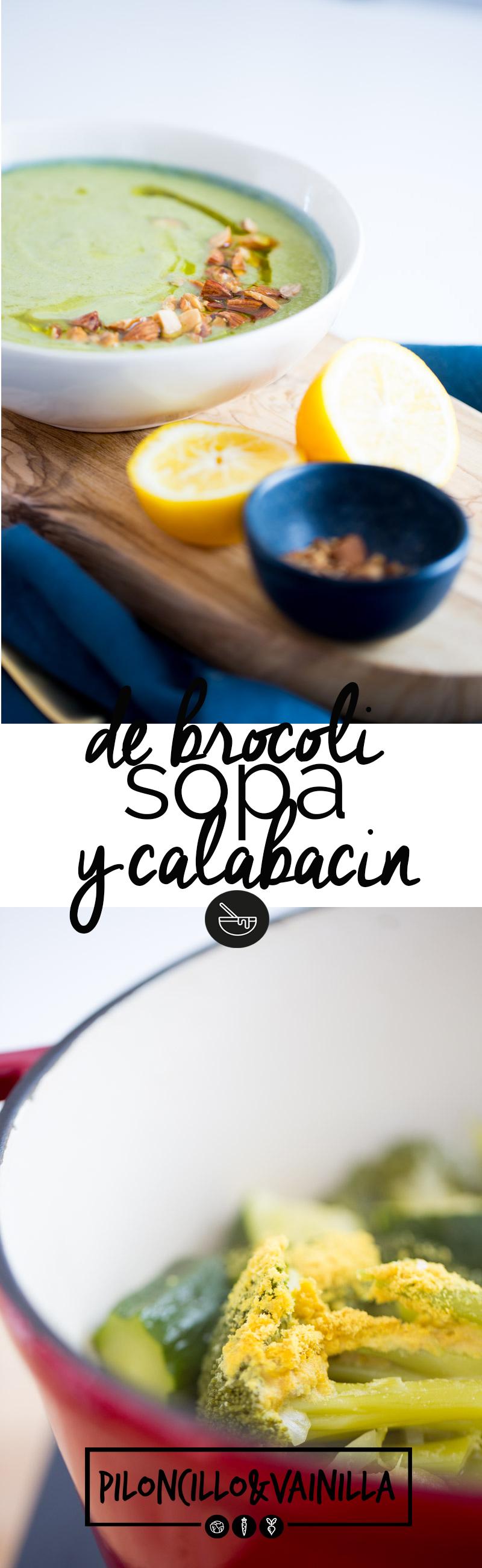 Sopa de brócoli y calabacín con vitamina B12 es la sopa perfecta para cuando queremos comer saludable y delicioso pero cocinando super rápido.