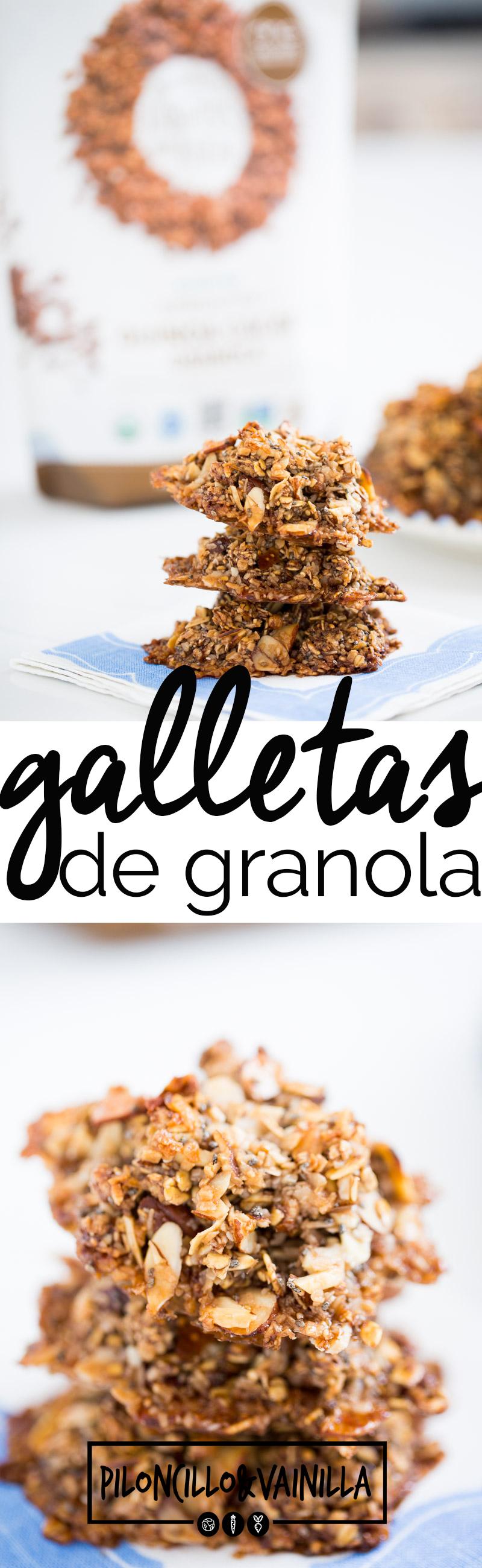 De verdad no se como no se me había ocurrido antes hacer galletas de granola, son fáciles, deliciosas y perfectas para mandar en la lonchera. #vegan, #galletasveganas,#recetassaludables,#recetassanas, #postresaludable