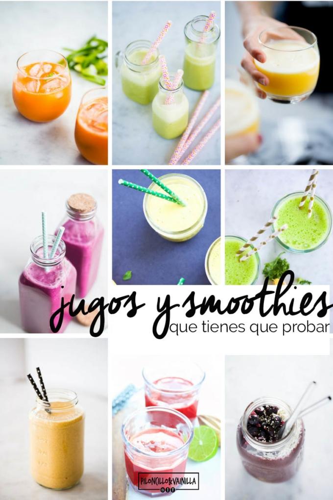 recetas de jugos y smoothies que tienes que probar.