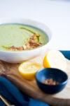 Sopa de brocoli y calabacin con vitamina B12