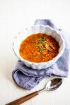 Sopa de lentejas vegana, Receta Mexicana