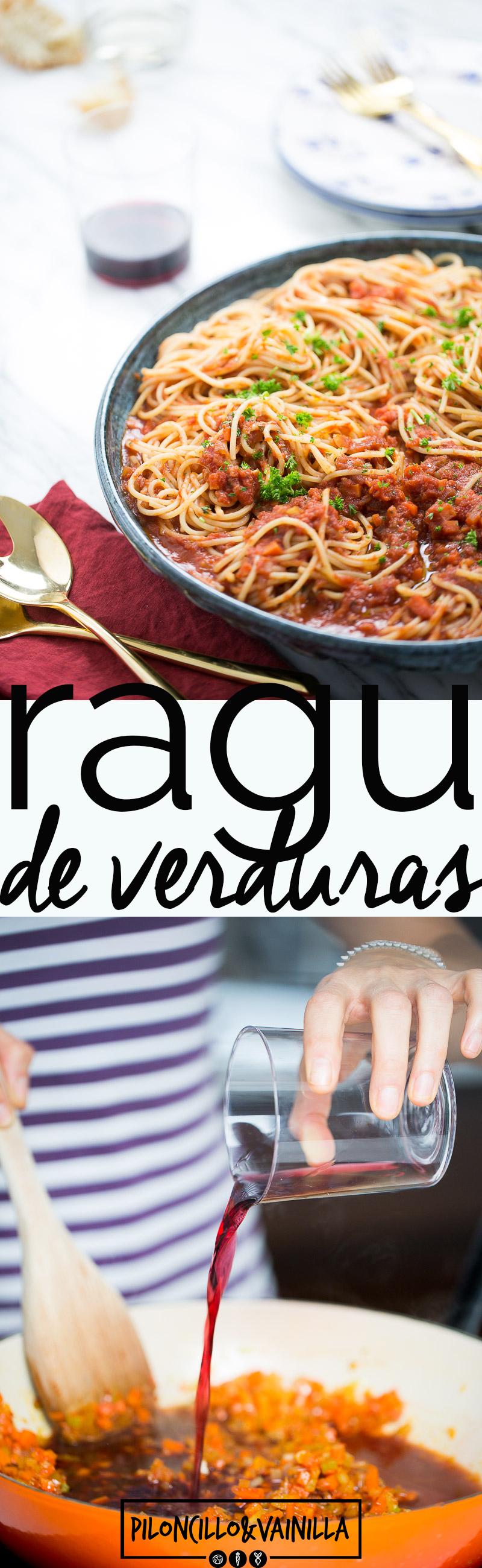 Esta receta de pasta de ragu de verduras es una receta que te prometo te vas a aprender de memoria. Es uan receta perfecta para todo, para cena de amigos o cena romántica. #vegano, #receta, #recetaenespañol