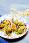 Tacos de coliflor crujiente