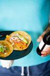 Tacos de tinga de yaca