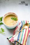 sopa de papa y cilantro