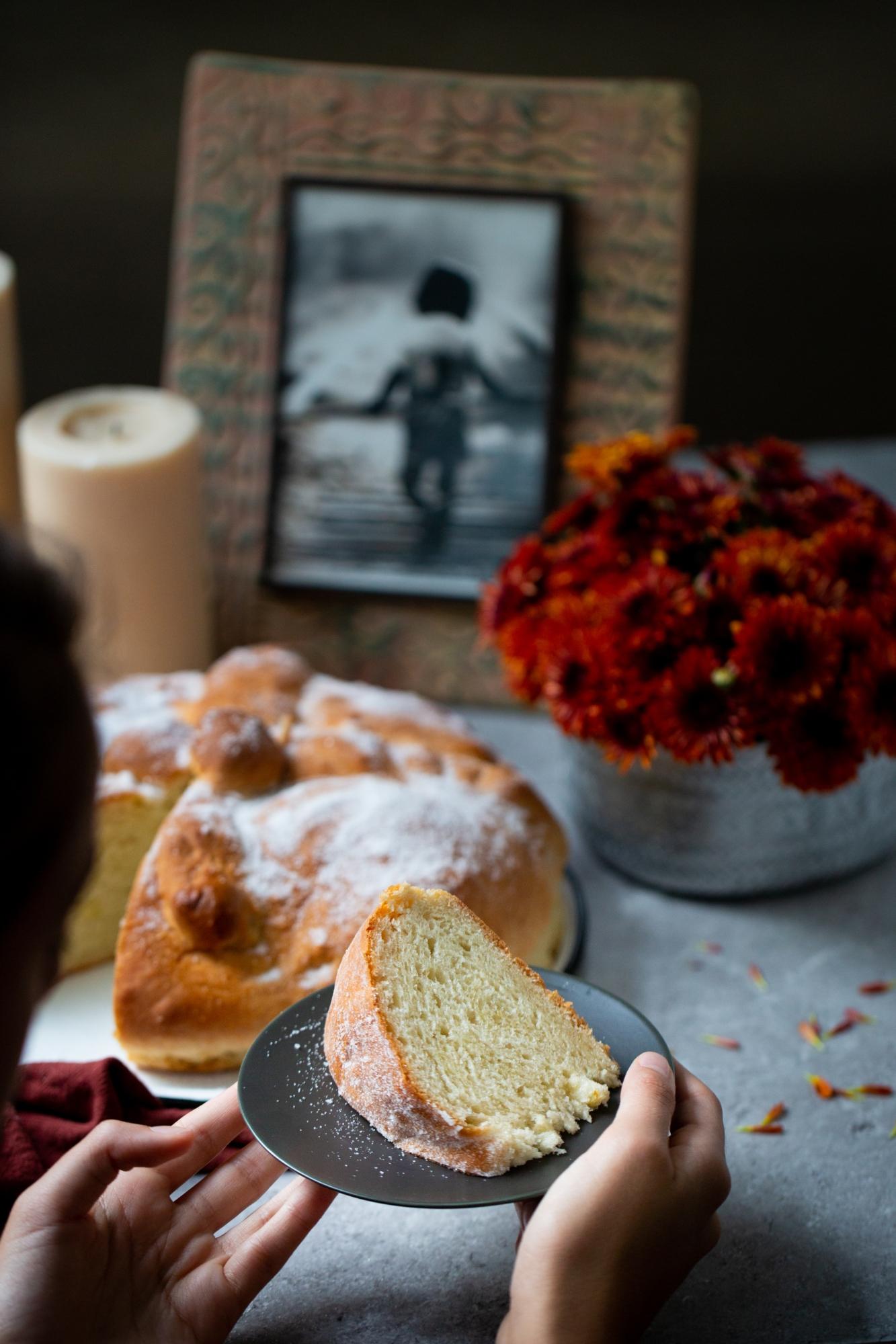 vegan day of the dead bread