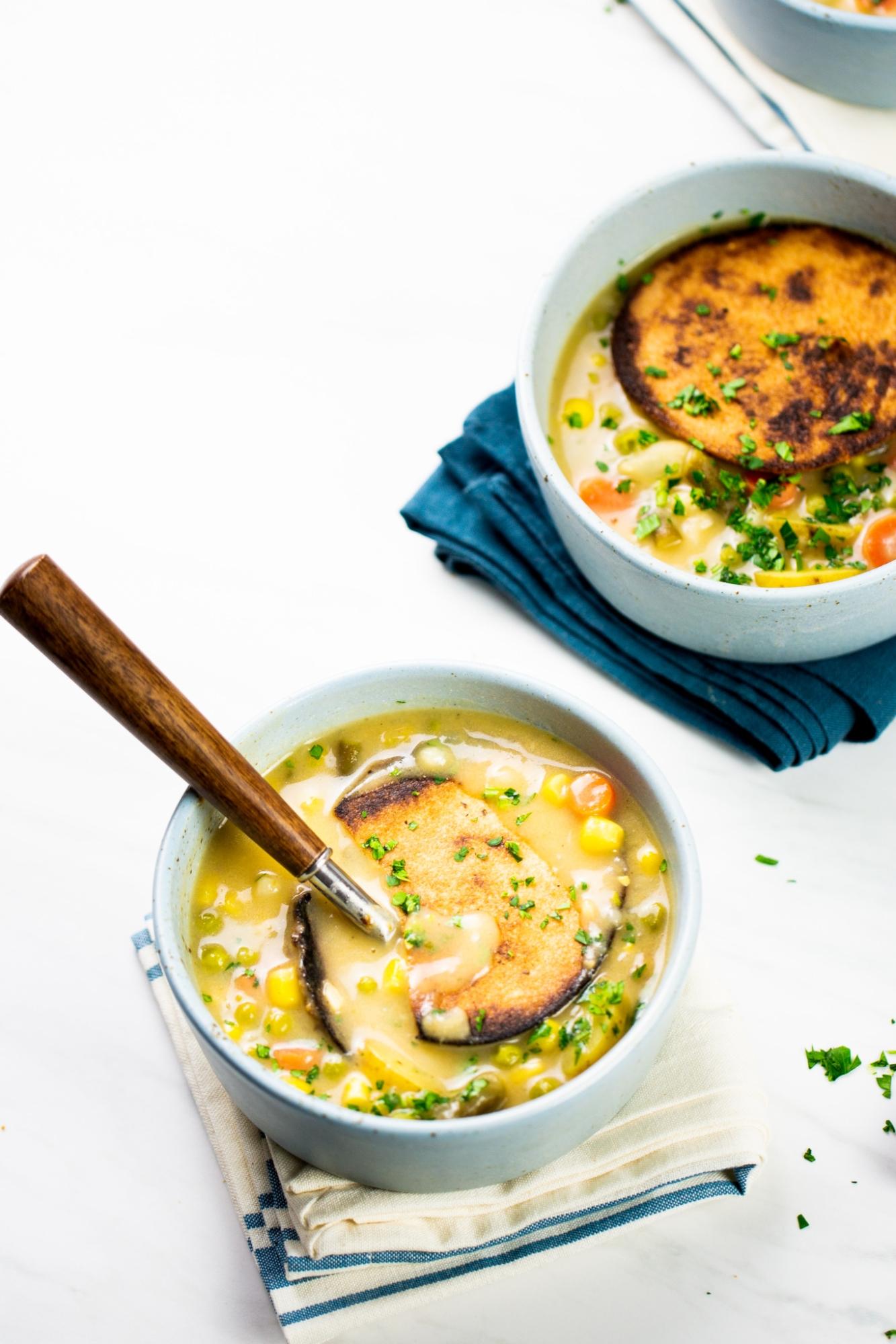 sopa de verduras pot pie