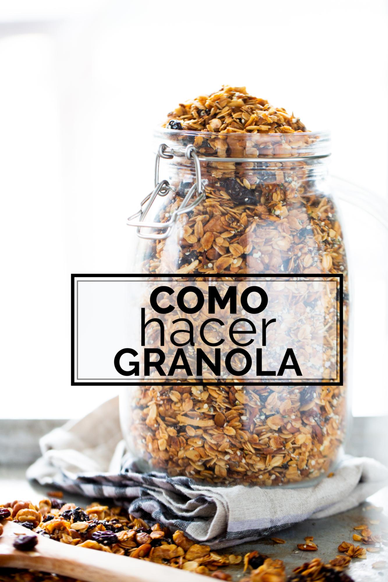 como hacer granola hecha en casa