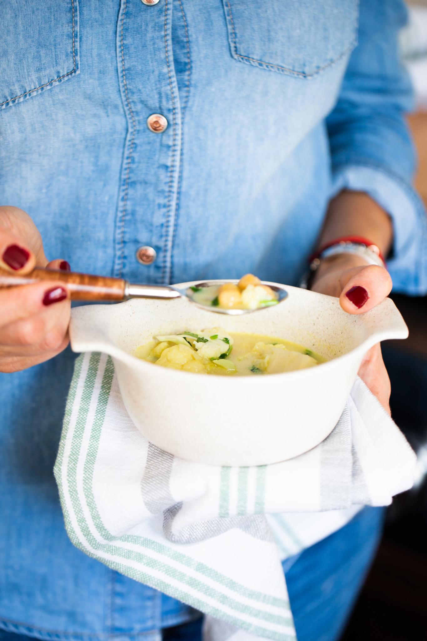 curry de garbanzo y coliflor