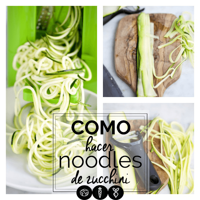 formas de hacer los noodles de calabacín o pasta de zucchini