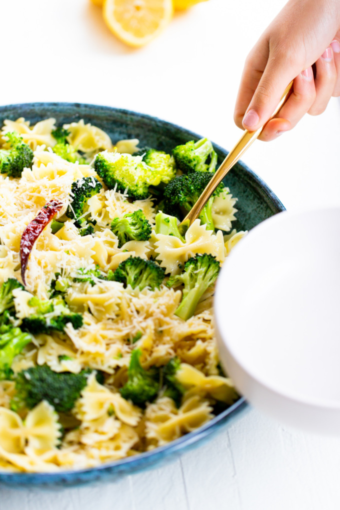receta de pasta con brocoli