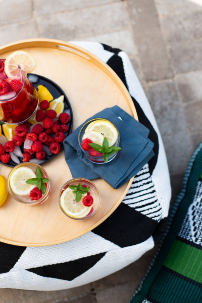 Limonada con frambuesas para celebrar el patio nuevo