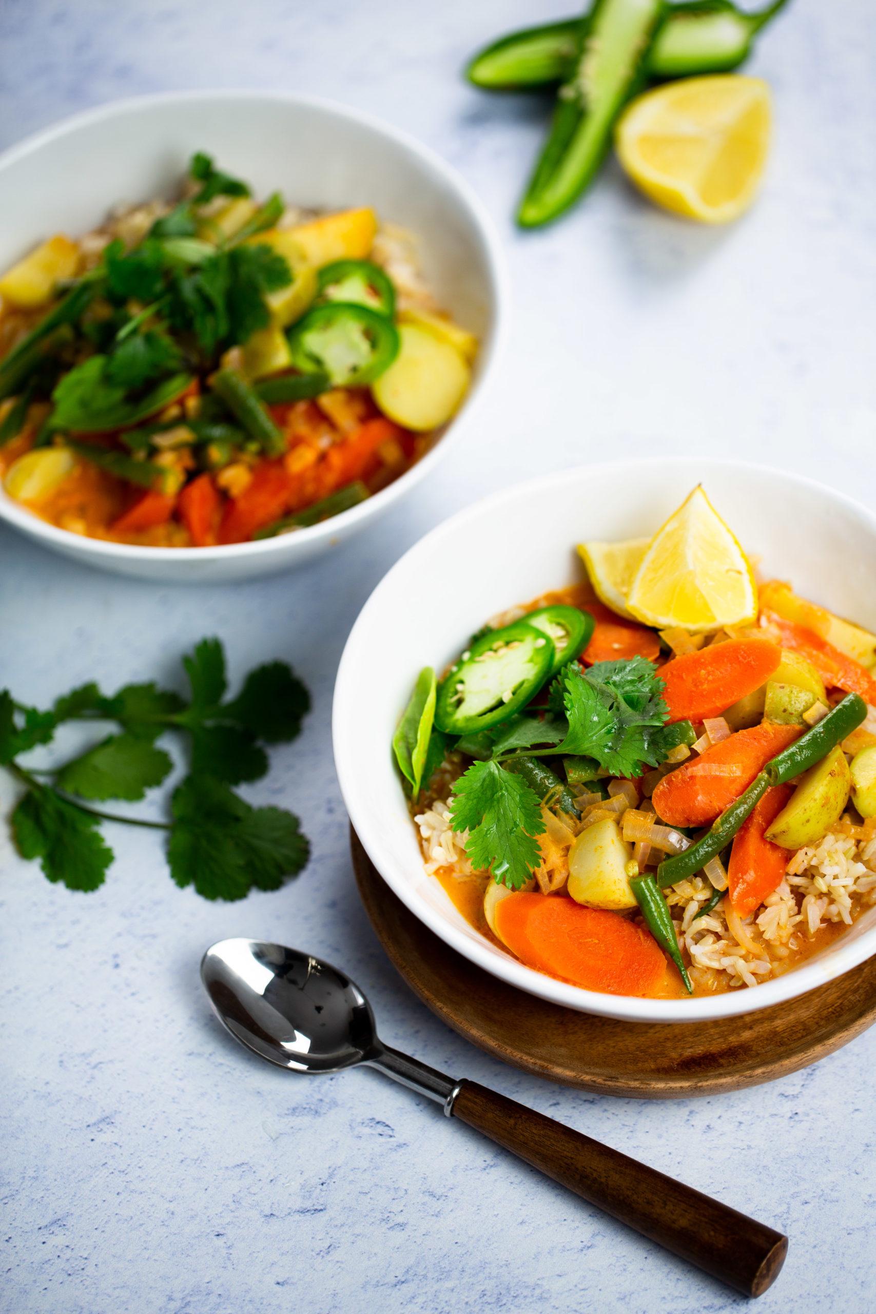 plato con curry thai rapidisimo