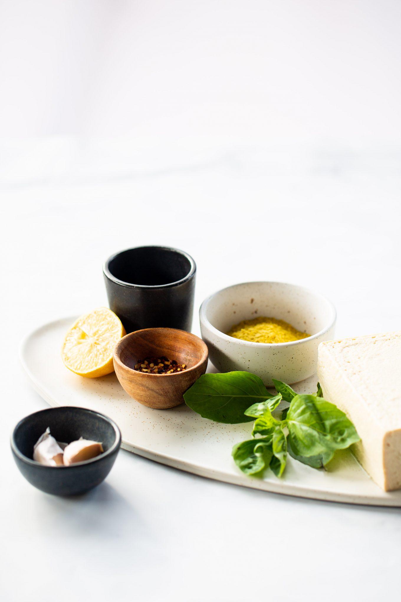 Ingredientes para hacer queso ricotta de tofu