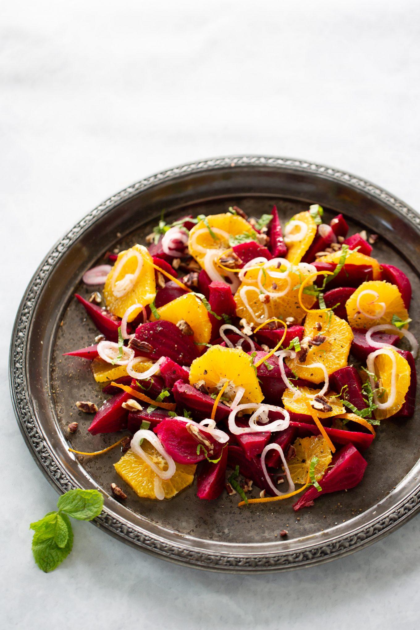 Ensalada de betabel y naranja