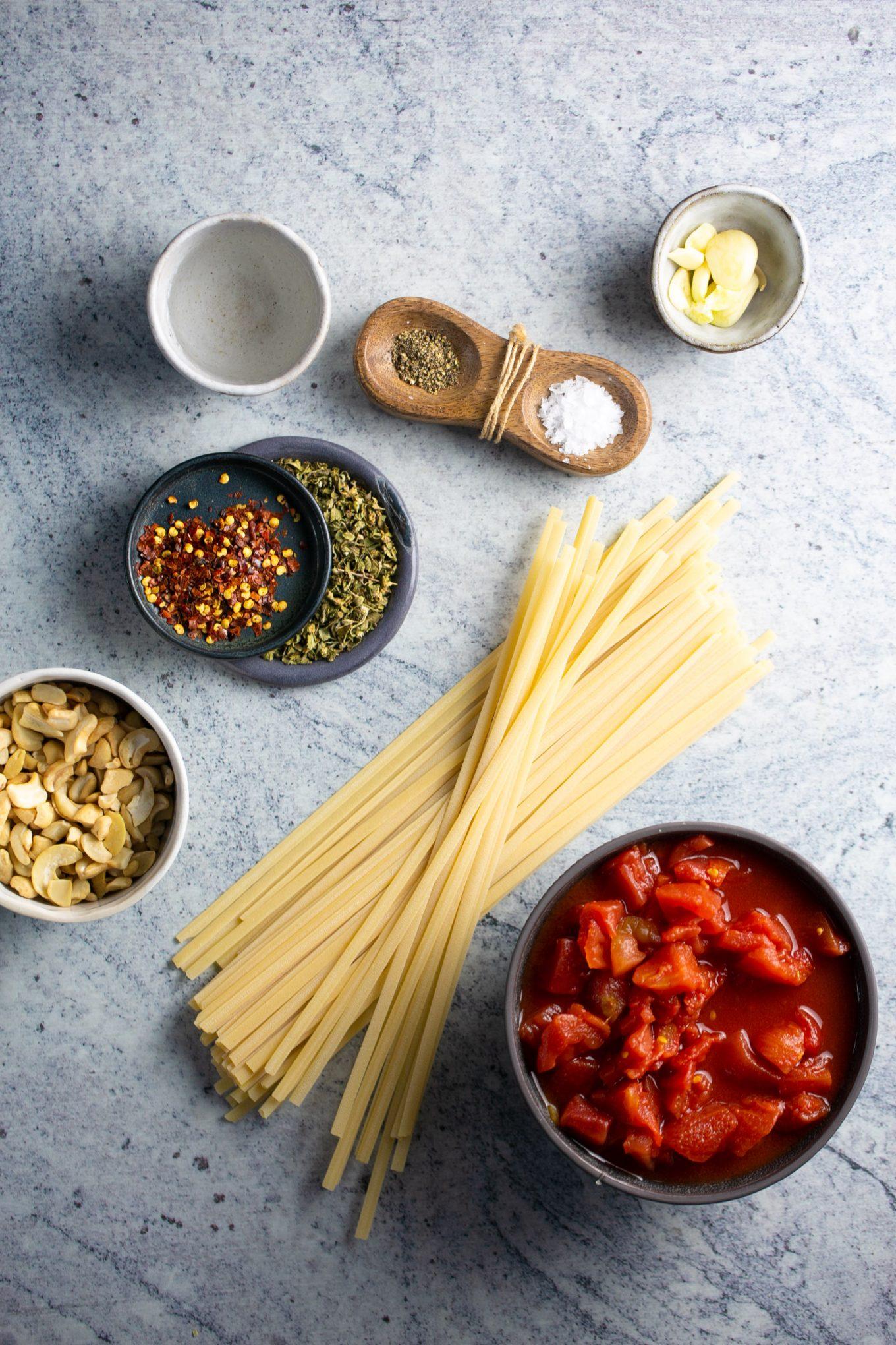 ingredientes para hacer pasta con vodka sin crema